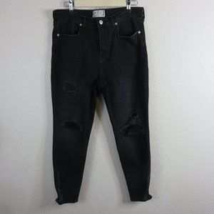 We The Free Distressed Faded Black Skinny Jeans